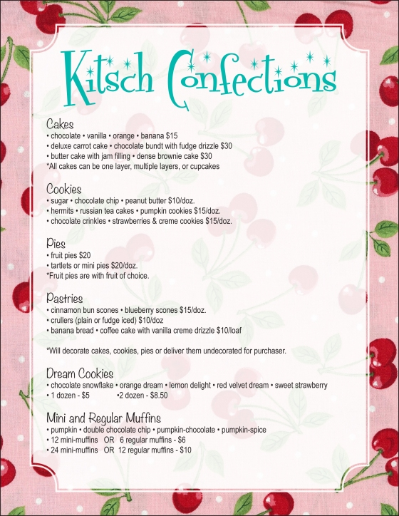 Kitsch Confections - Baked Goods menu 1 of 2