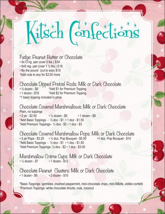 KITSCH CONFECTIONS CANDY MENU 12-07-15