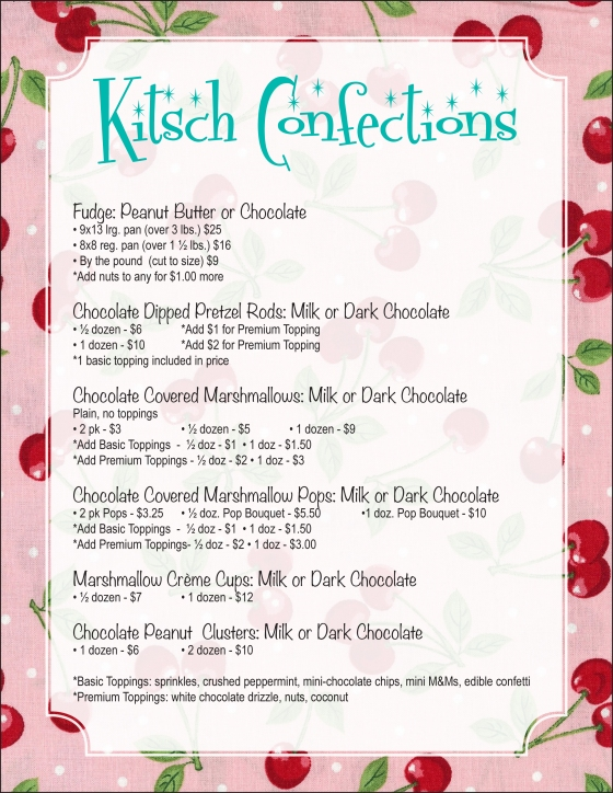 Kitsch Confections Candy Menu - 2 of 2