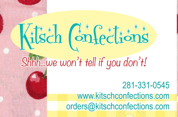 In the mood for a sweet treat? You've found it! Kitsch Confections offers you the tastiest homemade cakes, candies, cookies, fudge, breads, muffins and other homemade desserts! So good you'll want to claim them as your own. Shhh…we won't tell if you don't!
