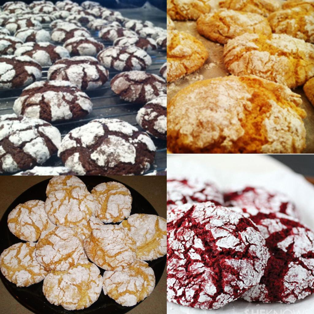 Kitsch Confections - These light and fluffy dream cookies are delicious in any flavor. Pictured are Chocolate Snowflake, Orange Dream, Lemon Delight and Red Velvet Dream Cookies