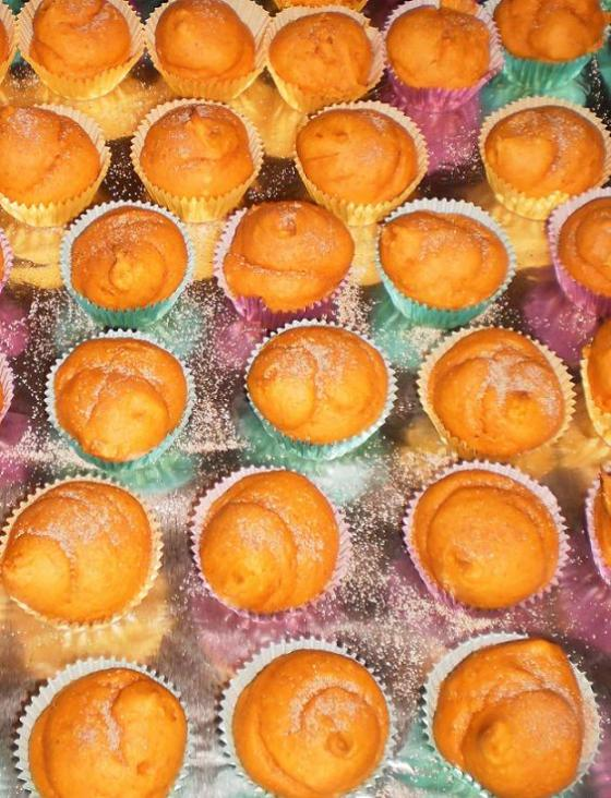 Kitsch Confections - Mini cinnamon-sugar dusted pumpkin muffins, also available in full size