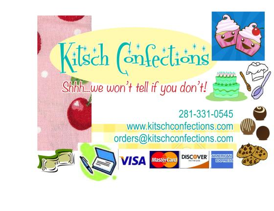 Kitsch Confections offers custom made sweet treats to Alvin, Manvel and surrounding SE Houston areas