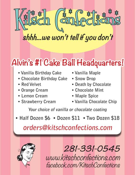 Kitsch Confections is Alvin's Cake Ball headquarters